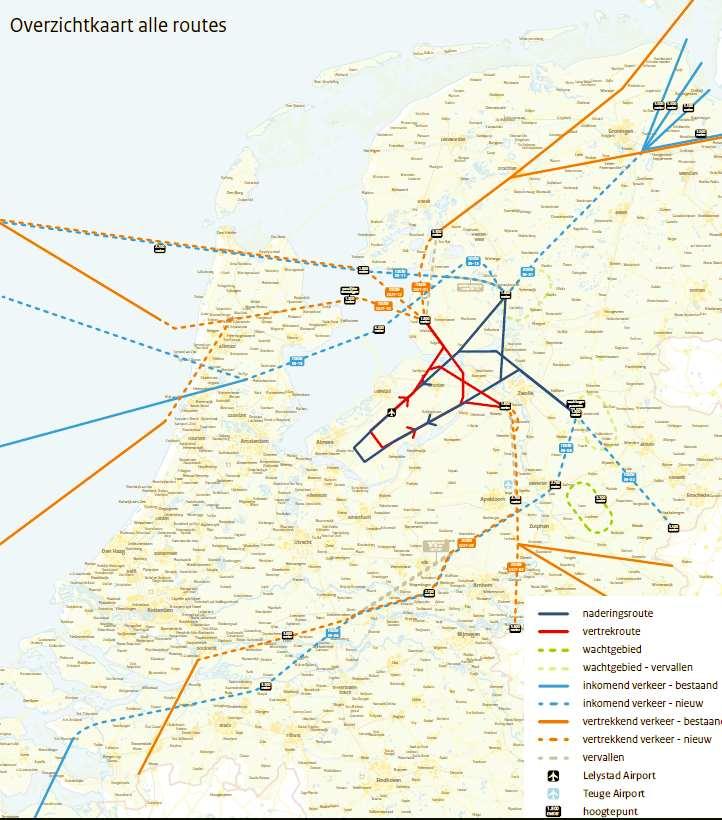 Overzicht vliegroutes Lelystad versie febr 2018